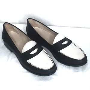 Cole Haan Black & White Leather Kent Loafer II